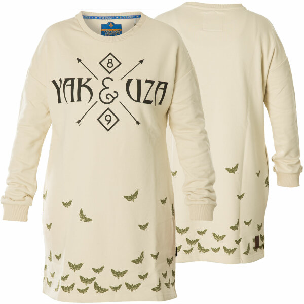 Yakuza Kleid Moth Label Sweat Kleid GKB-15106 Bone White Wollweiß