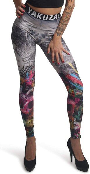 Yakuza Spiderrush Leggings LEB-15111 Multicolored Bunt