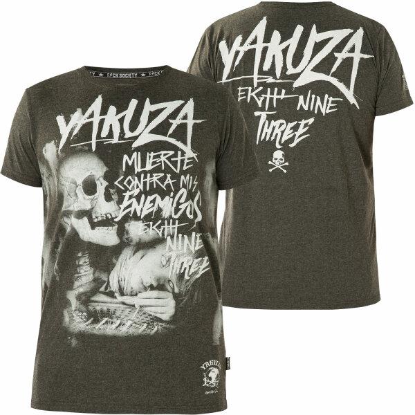 Yakuza Muerte Skull T-Shirt Grau