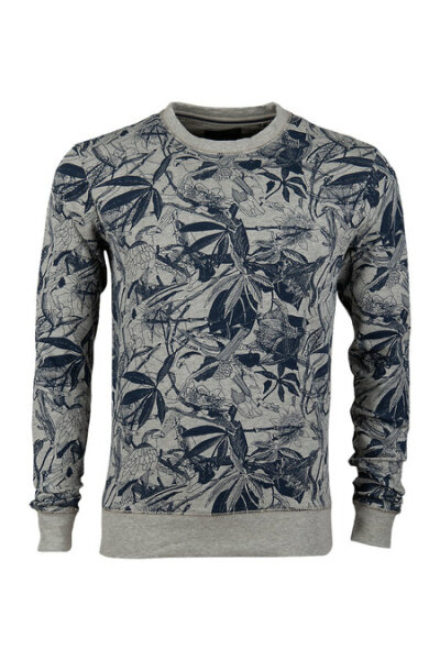 Petrol Ind.Pullover with all-over print
