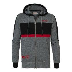 M-3000-SWH305  Sweater Jacke  grau