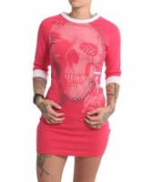 Yakuza Glowing Skull Bodycon Kleid rot