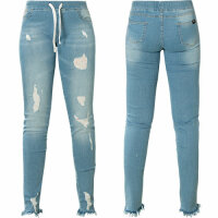 Yakuza Damen Jeggings Burst Jogging Jeans blau