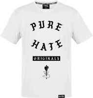 Pure Hate Gang Letters Shirt weiß M