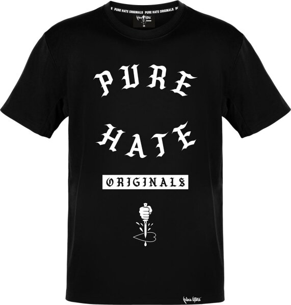 Pure Hate Gang Letters Shirt schwarz
