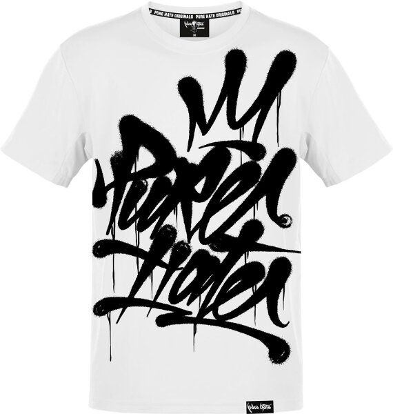 Pure Hate Crowned Tag Shirt weiß