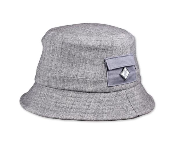Djinns Bucket Hat Woolmelange grau
