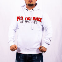 """Pro Violence""""We Fight Back"""" Hoodie weiß"""