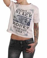 Yakuza Black Money Panelling Box Fit T-Shirt GSB 14137 parsian night