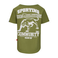 """Label23 T-Shirt """"Sporting""""olive"""